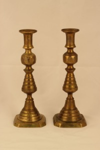 Russian Sabbath Candlesticks