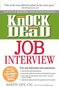 """image of the book """"Knock Dead Job Interview"""""""