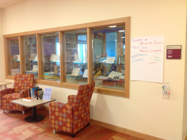 faculty library exhibit photo