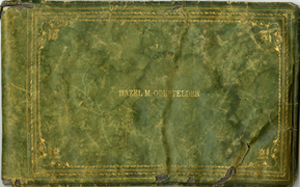 Front cover of Hazel Oberfelder's Autograph Book