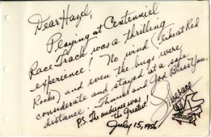 Autograph of Liberace