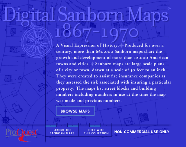 Image of Digital Sanborn maps
