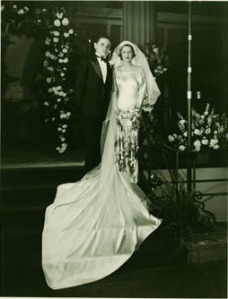 Wedding photo of Peryle Hayutin and Ira Beck.