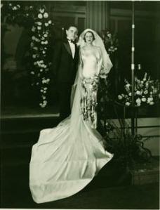 Wedding photo of Peryle Hayutin and Ira Beck.