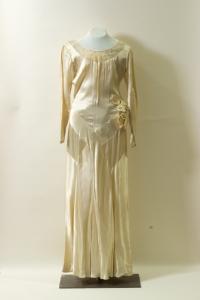 Wedding dress worn by Peryle Hayutin Beck.